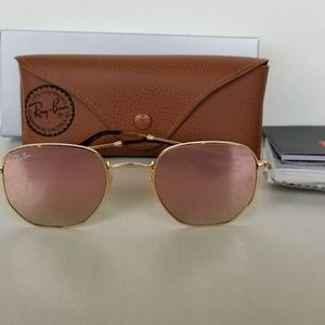 Holiday'$ SALE Ray Ban Hexagon rose gold/golden